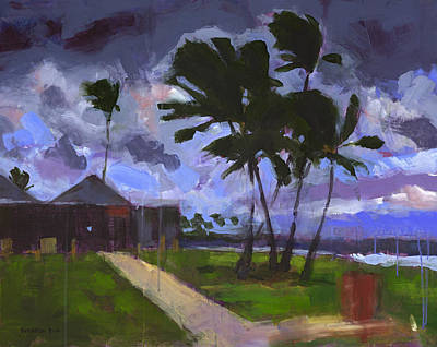 Storm Clouds Painting - Windward Stormclouds by Douglas Simonson