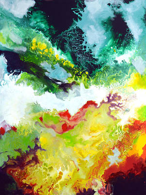 Painting - Windwsept Canvas Two Of Three by Sally Trace