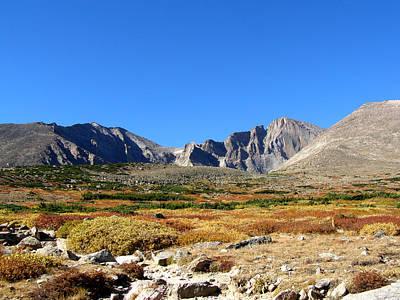 Photograph - Blue Sky And Longs Peak by Thomas Samida