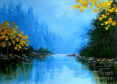 Serenity Scenes Painting - Windy  Canyon  by Shasta Eone