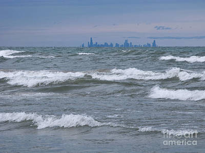 Windy City Skyline Art Print