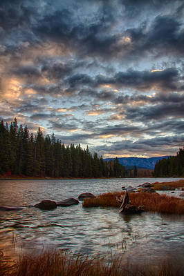 Photograph - Windy Day At Lake Wenatchee by Robert Woodward