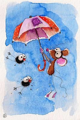 Windy Days Art Print by Lucia Stewart