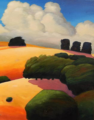 Painting - Windy Hill Triptych Revisit Panel Three by Gary Coleman