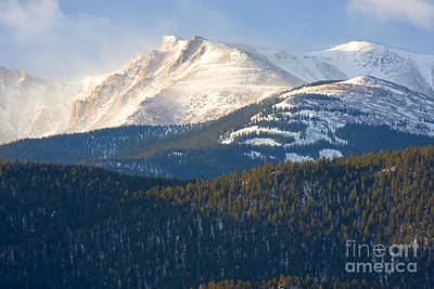 Steven Krull Royalty-Free and Rights-Managed Images - Windy Morning Peak by Steven Krull