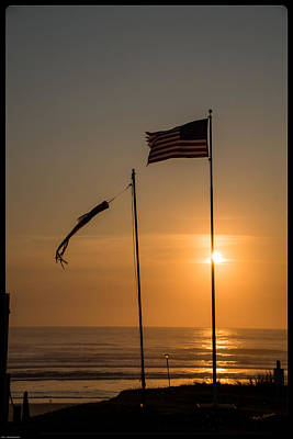 Photograph - Windy Oregon Coast Sunset by Mick Anderson