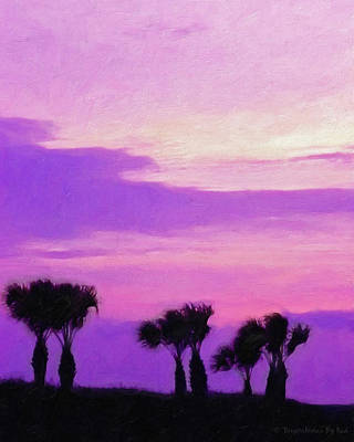 Painting - Windy Palms by Melody McBride