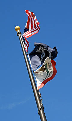 Old Glory Photograph - Windy Set 2013  by James Warren