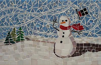 Mixed Media - Windy Winter by Julie Mazzoni