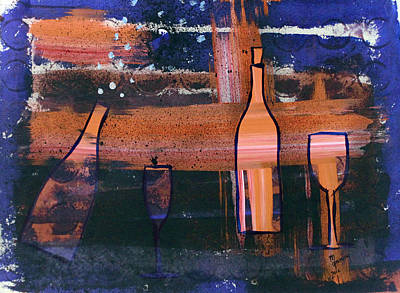 Special Occassion Painting - Wine - 1713 by Richard Sean Manning