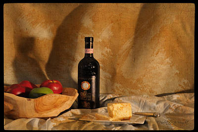 Photograph - Wine And Cheese 2 by Paulette B Wright