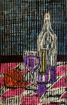 Painting - Wine And Cheese by Celeste Manning