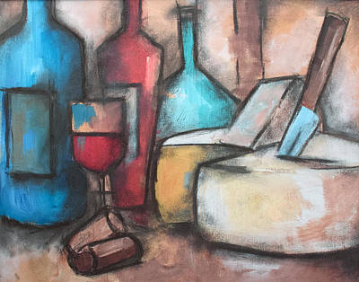 Painting - Wine And Cheese by Sean Parnell