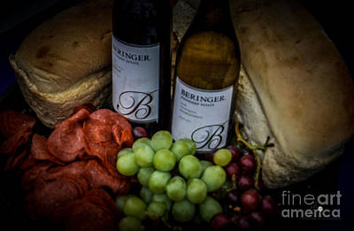 Photograph - Wine And Grapes by Ronald Grogan