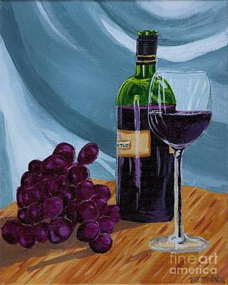 Italian Kitchen Painting - Wine And Grapes by Vicki Maheu