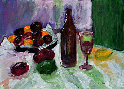 Impressionist Nudes Old Masters - Wine and Plums by Wade Binford