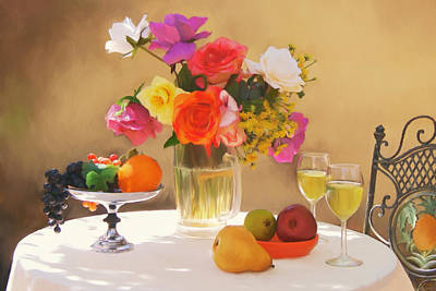 Painting - Wine And Roses by Sandra Selle Rodriguez