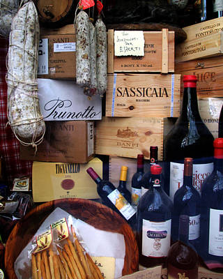 Photograph - Wine And Salami by John Bushnell