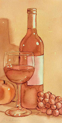 Wine And Sunshine Two Art Print