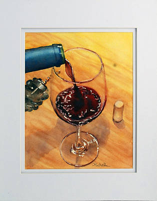 Wine Anticipation Print by Richelle Siska