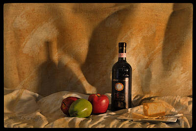 Photograph - Wine Apples And Cheese by Paulette B Wright