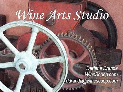 Winepress Photograph - Wine Arts Studio by Darlene Dranda