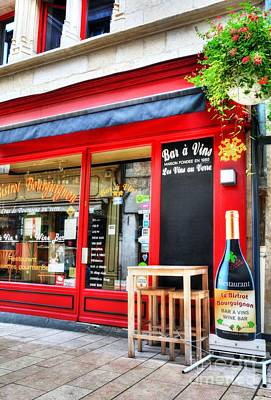 Photograph - Wine Bar In Beaune by Mel Steinhauer