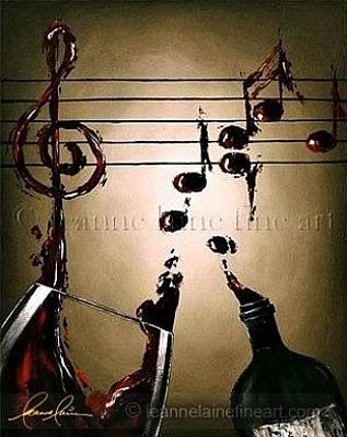 Wine Rack Painting - Wine Bar Performer Wine Art Painting by Leanne Laine