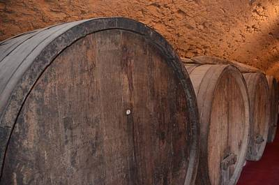 Fruits And Vegetables Still Life - Wine Barrel by Dany Lison