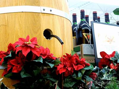 Photograph - Wine Barrel Display by Renee Trenholm