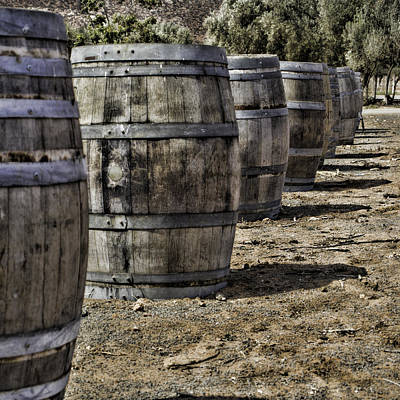 Photograph - Wine Barrels by Donna Miller
