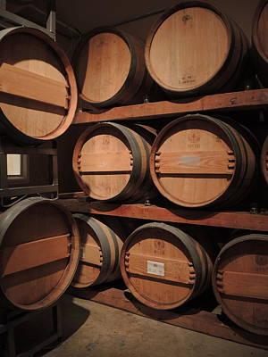 Wine Barrels Original by Jan Massie
