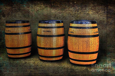 Photograph - Wine Barrels by Kaye Menner