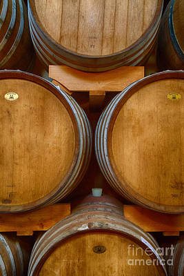 Photograph - Wine Barrels by Michele Steffey