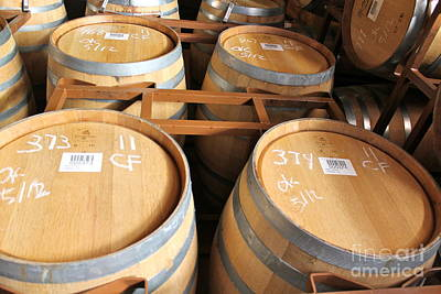 Photograph - Wine Casks by Pamela Walrath