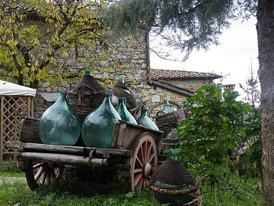 Wine Cart Photograph - Wine Bottle Cart by Dan Krapf