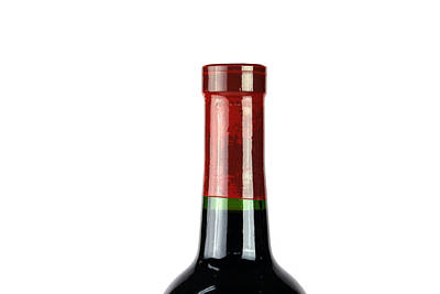 Wine Bottle Isolated On White Art Print by Michael Ledray