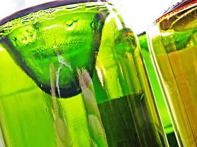 Photograph - Wine Bottles 5 by Sarah Loft