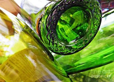 Photograph - Wine Bottles 6 by Sarah Loft
