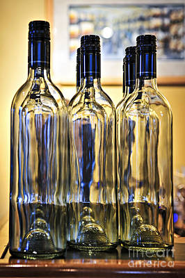 Vineyard Photograph - Wine Bottles by Elena Elisseeva