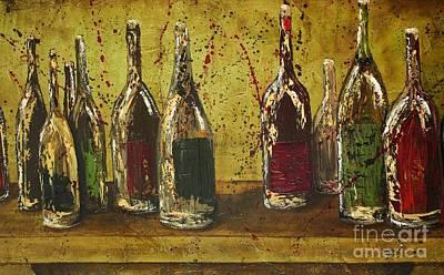 Wine Bottles Art Print by Jodi Monahan