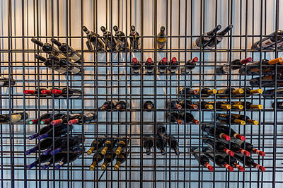 Rack Photograph - Wine Bottles, Reykjavik, Iceland by Panoramic Images