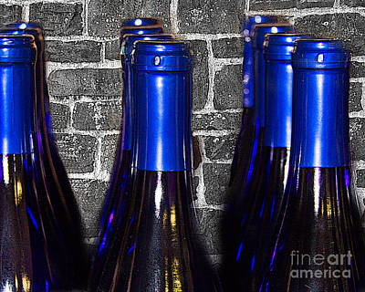Winetasting Photograph - Wine Bottles by Tom Gari Gallery-Three-Photography
