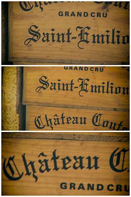 Wine Boxes Collage Art Print