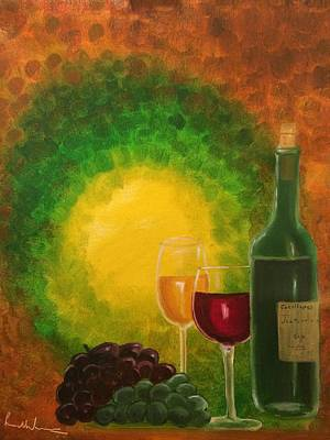 Painting - Wine by Brindha Naveen