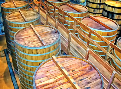 Photograph - Wine Casks 1 by Dawn Eshelman
