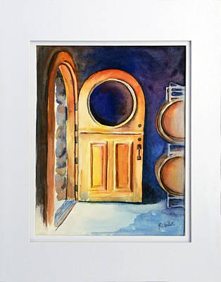 Wine Cave Painting - Wine Cave Door by Richelle Siska