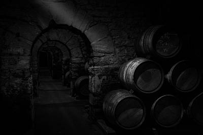 Barrel Photograph - Wine Cellar by Martin Zalba