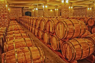 Wine Barrel Photograph - Wine Cellar  by Mountain Dreams