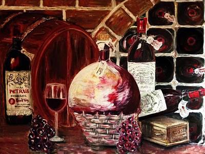 Box Wine Painting - Wine Cellar by Yelena Wilson